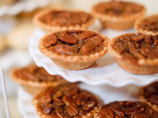 Pecan Butter Tarts on Wedding Buffet